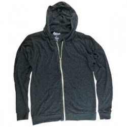 Eco-Triblend Zipper Hoddie Charcoal