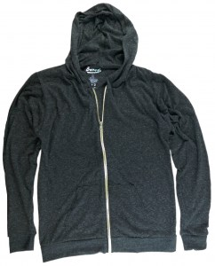 Banads Apparel-Eco-Triblend Zipper Hoddie Charcoal