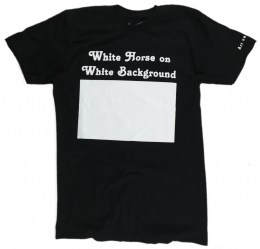 White Horse on White Background. An Unusual Art T-Shirt.